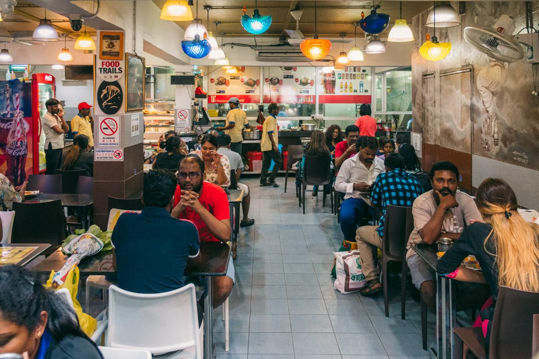 Inside Chat Masala in Brickfields.