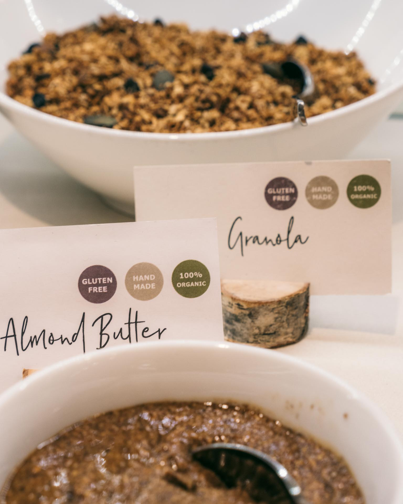 Granola and almond butter