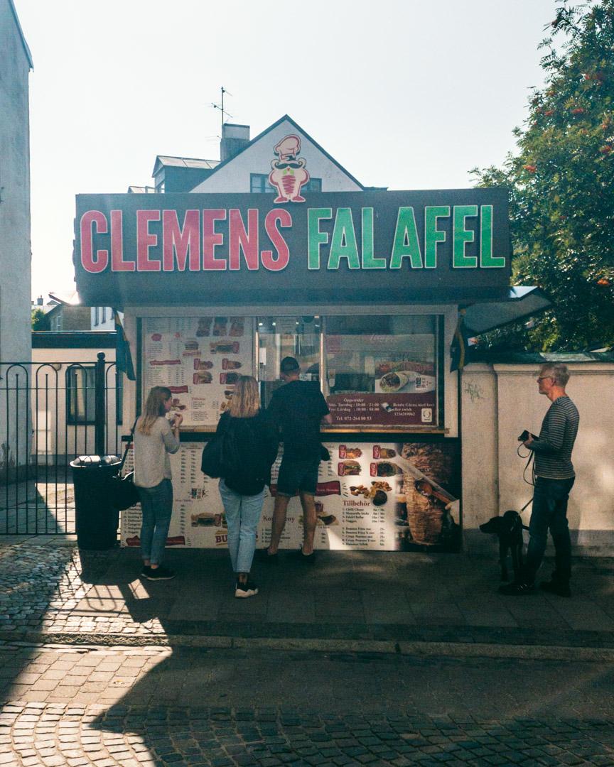 Clemens falafel stand