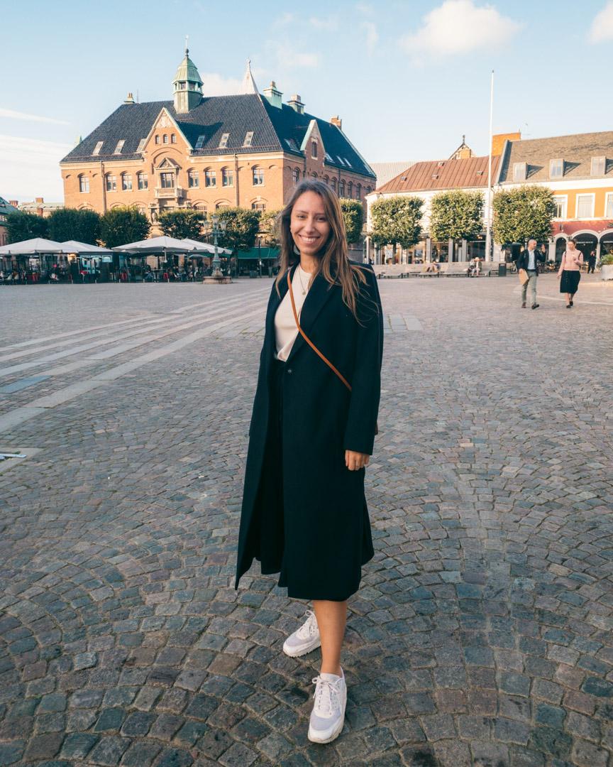 Victoria in Lund in square