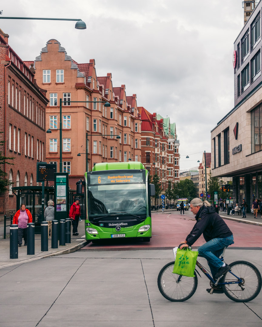 Bike and bus in Malmö