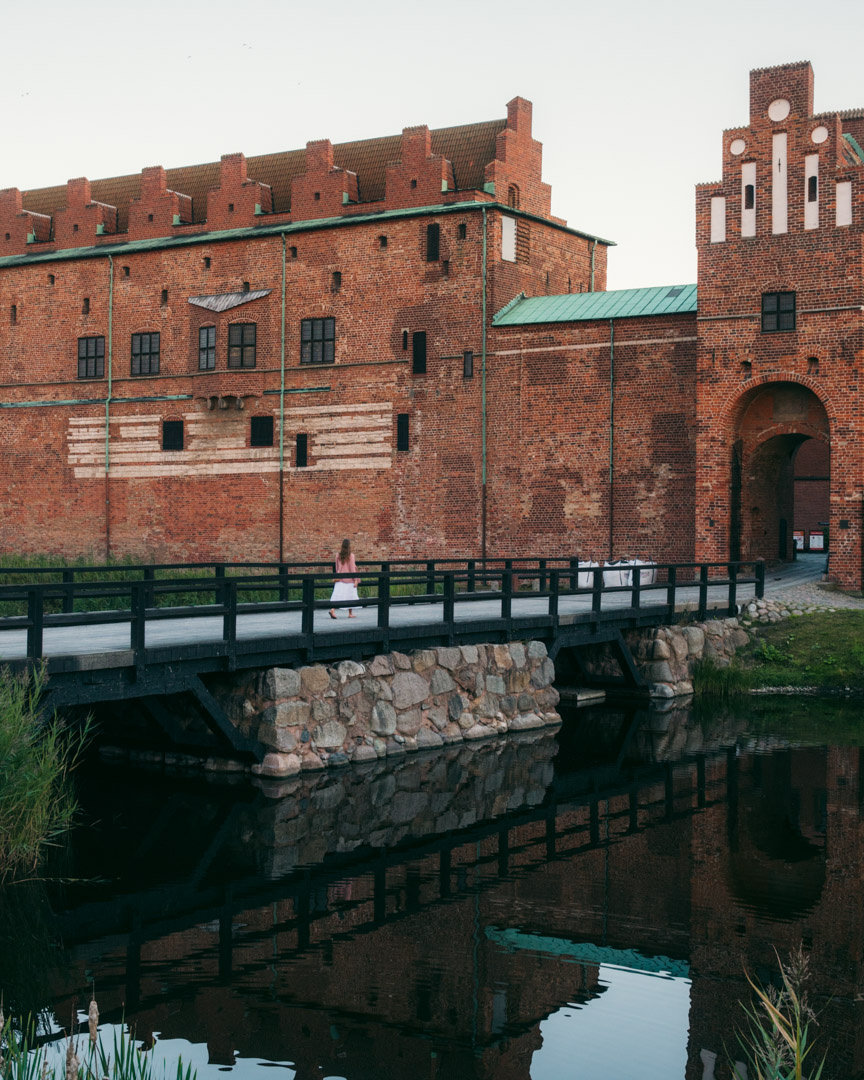Malmöhus Castle just before sunset