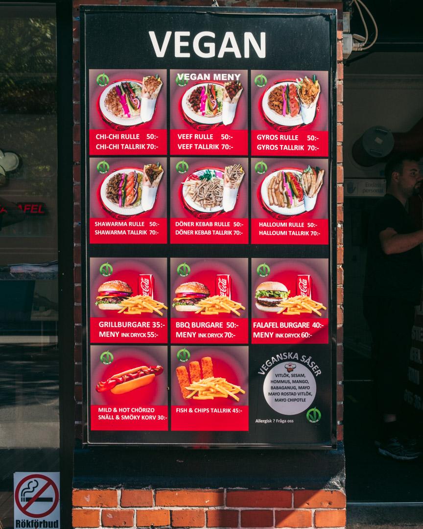 Möllans Falafel menu
