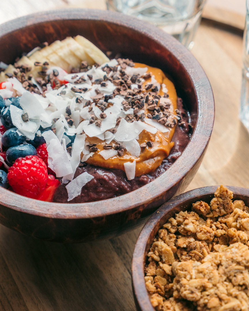 The big acai bowl at Acai & Poké