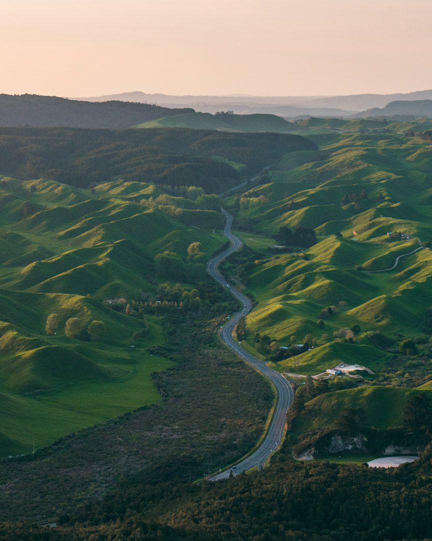 Road in New Zealand's North Island