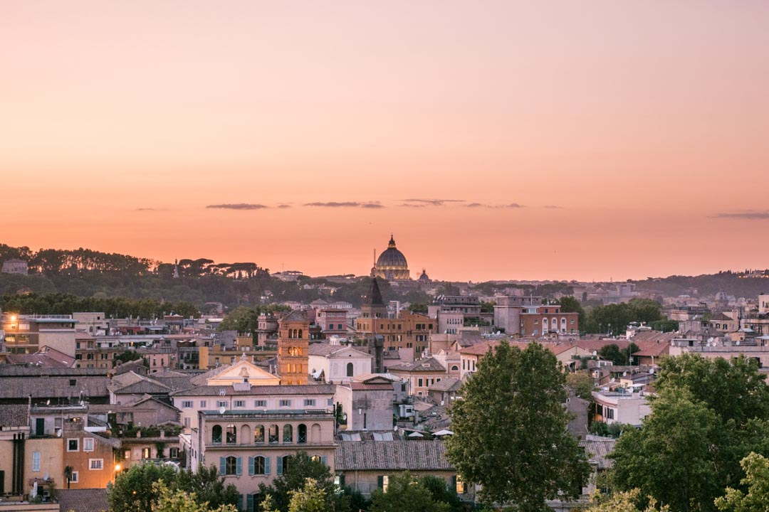 Sunset from Gianicolo Hill in Rome