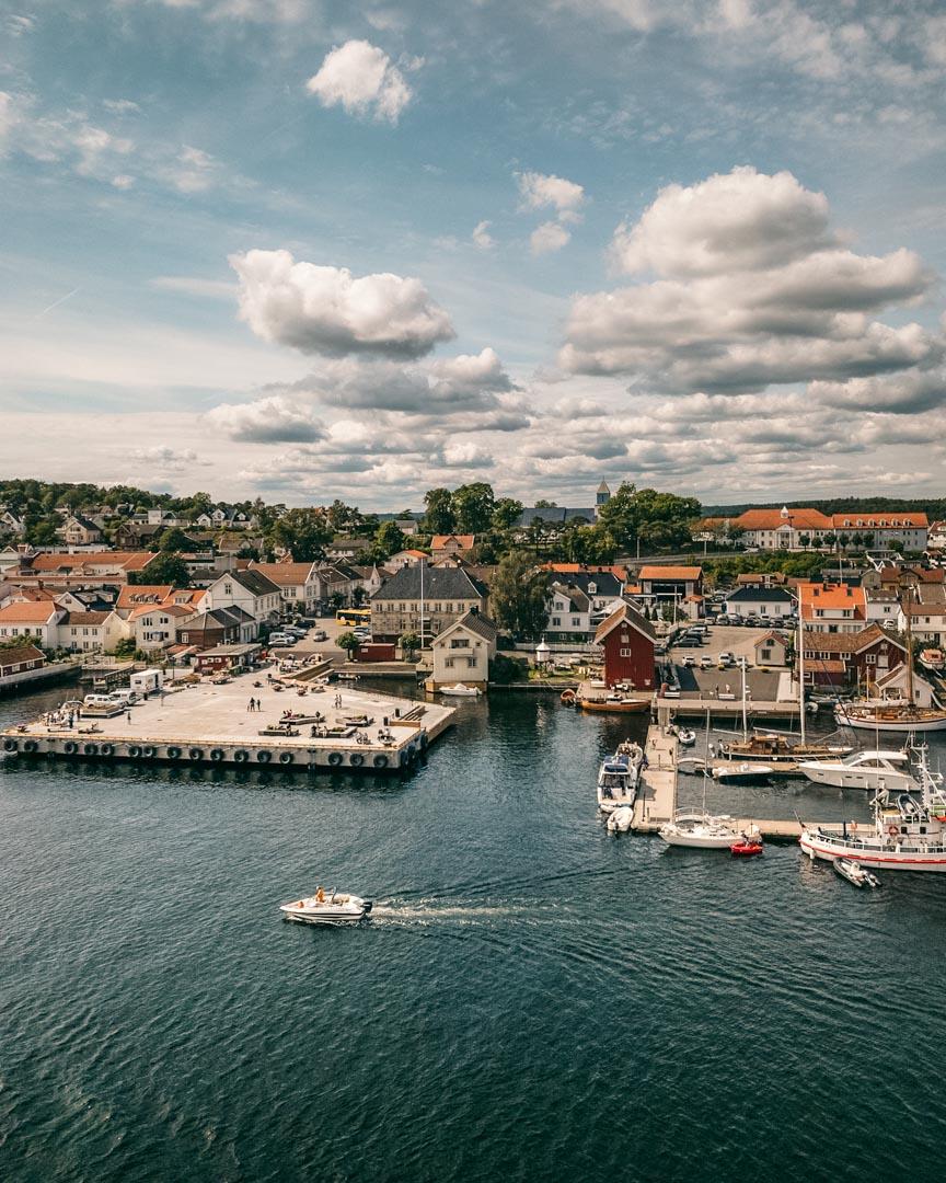 Arriving in Langesund, Norway