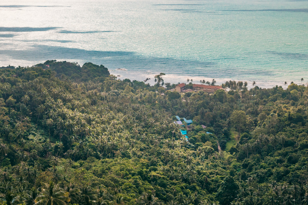 Koh Samui view over jungle and ocean