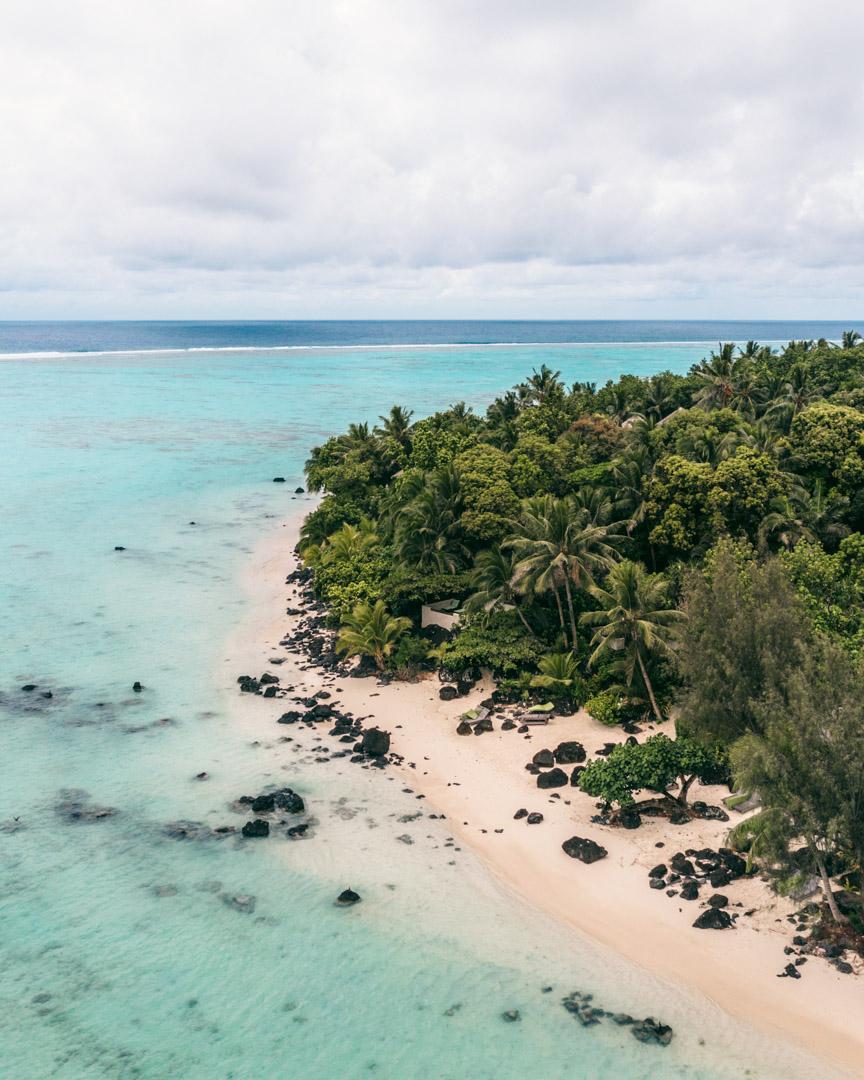 The lagoon in front of Pacific Resort Aitutaki