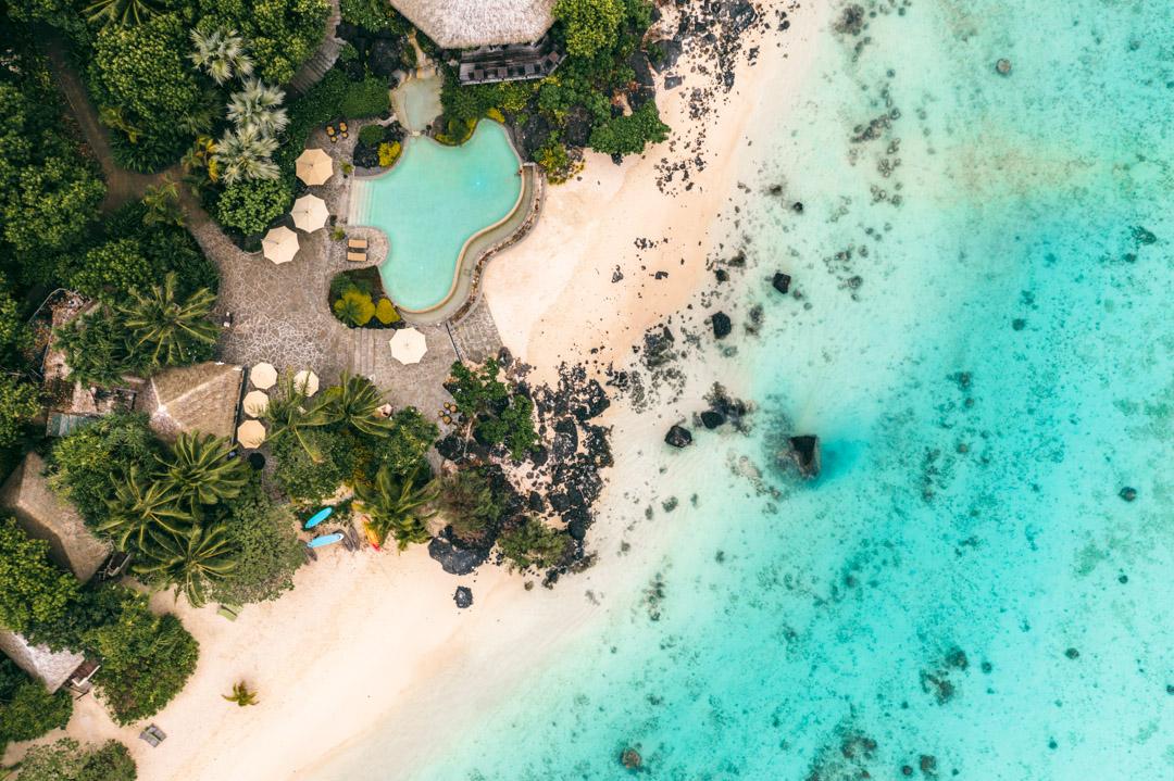 Pool and lagoon at Pacific Resort Aitutaki