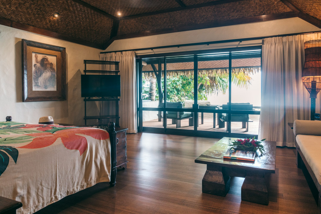 Private balcony at Pacific Resort Aitutaki
