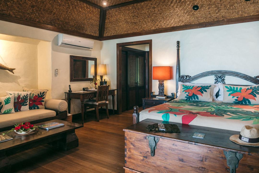 Premium Beachfront Bungalow room at the Pacific Resort Aitutaki