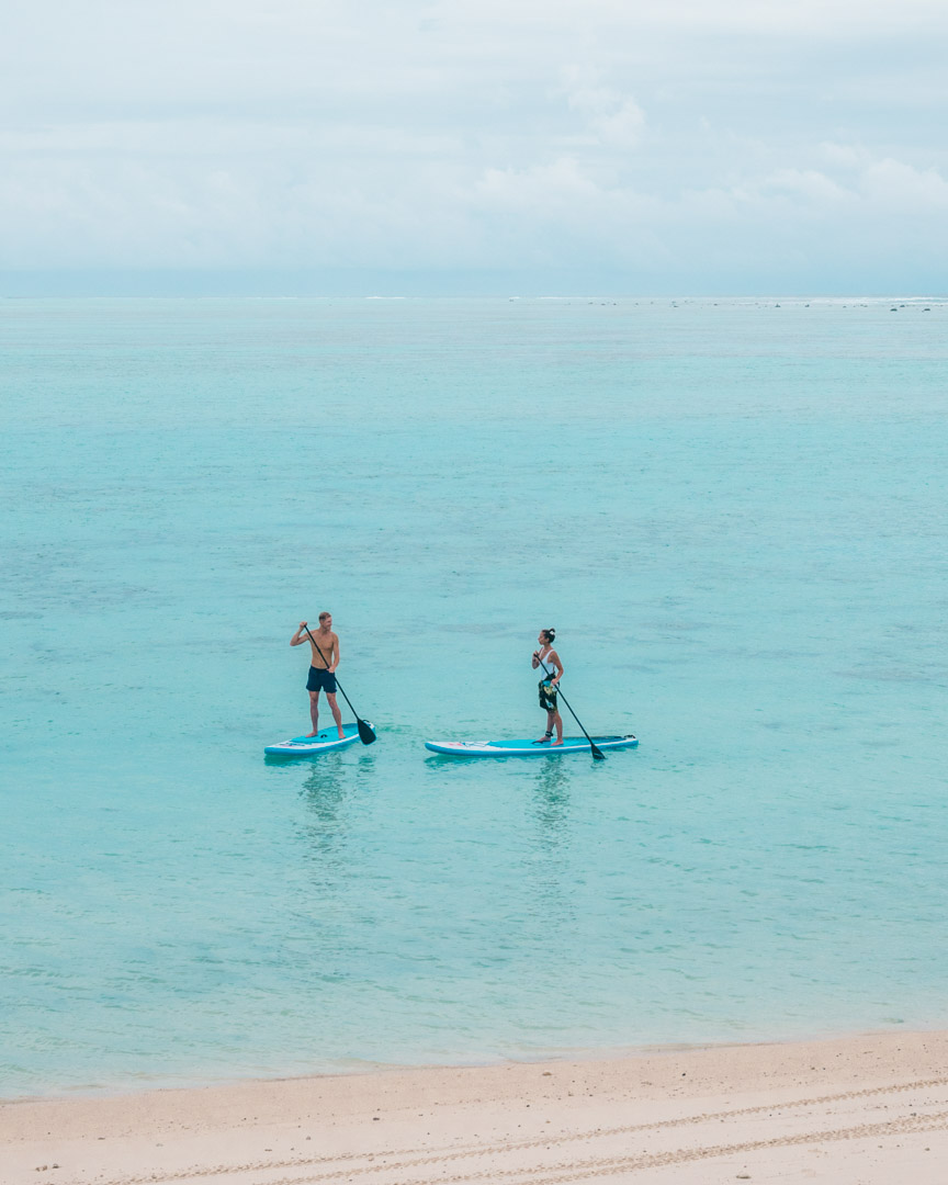 Stand up paddle boarding at Pacific Resort Aitutaki