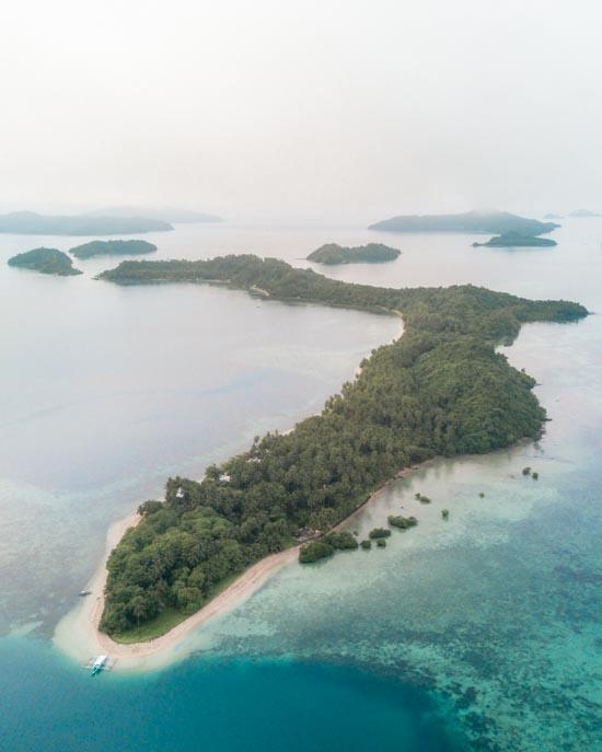 Island outside Palawan