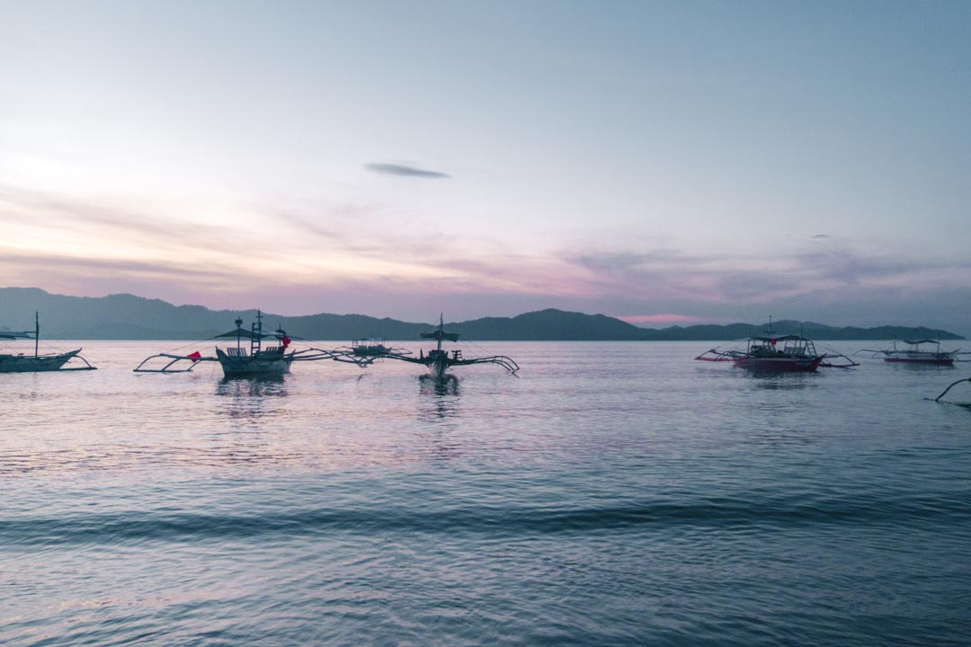 Boats in Palawan