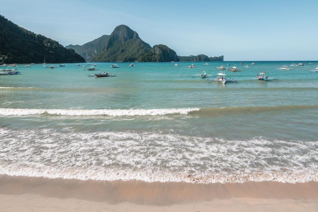 View from El Nido beach