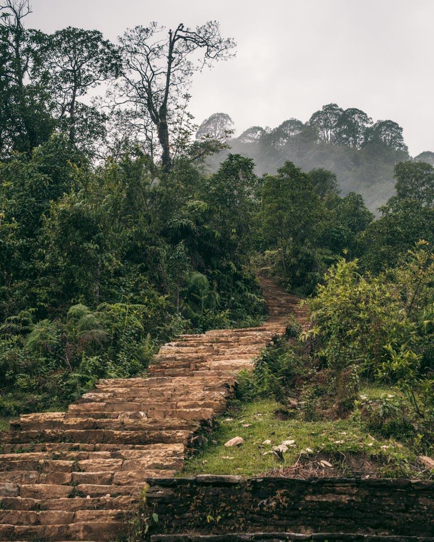 Stairs on Nepal trek