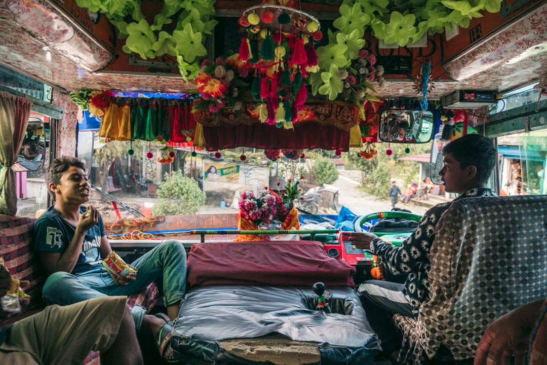 Bus driver in Nepal