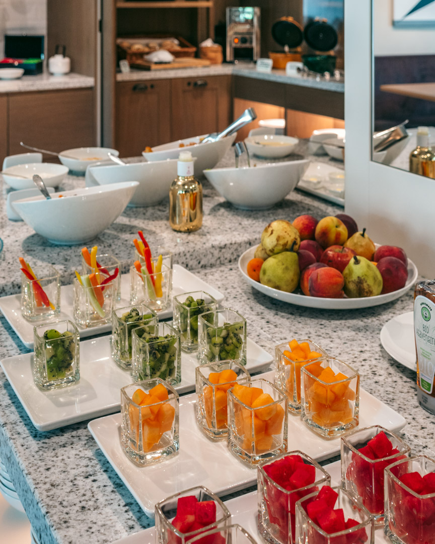 Fruit-section at the breakfast buffet