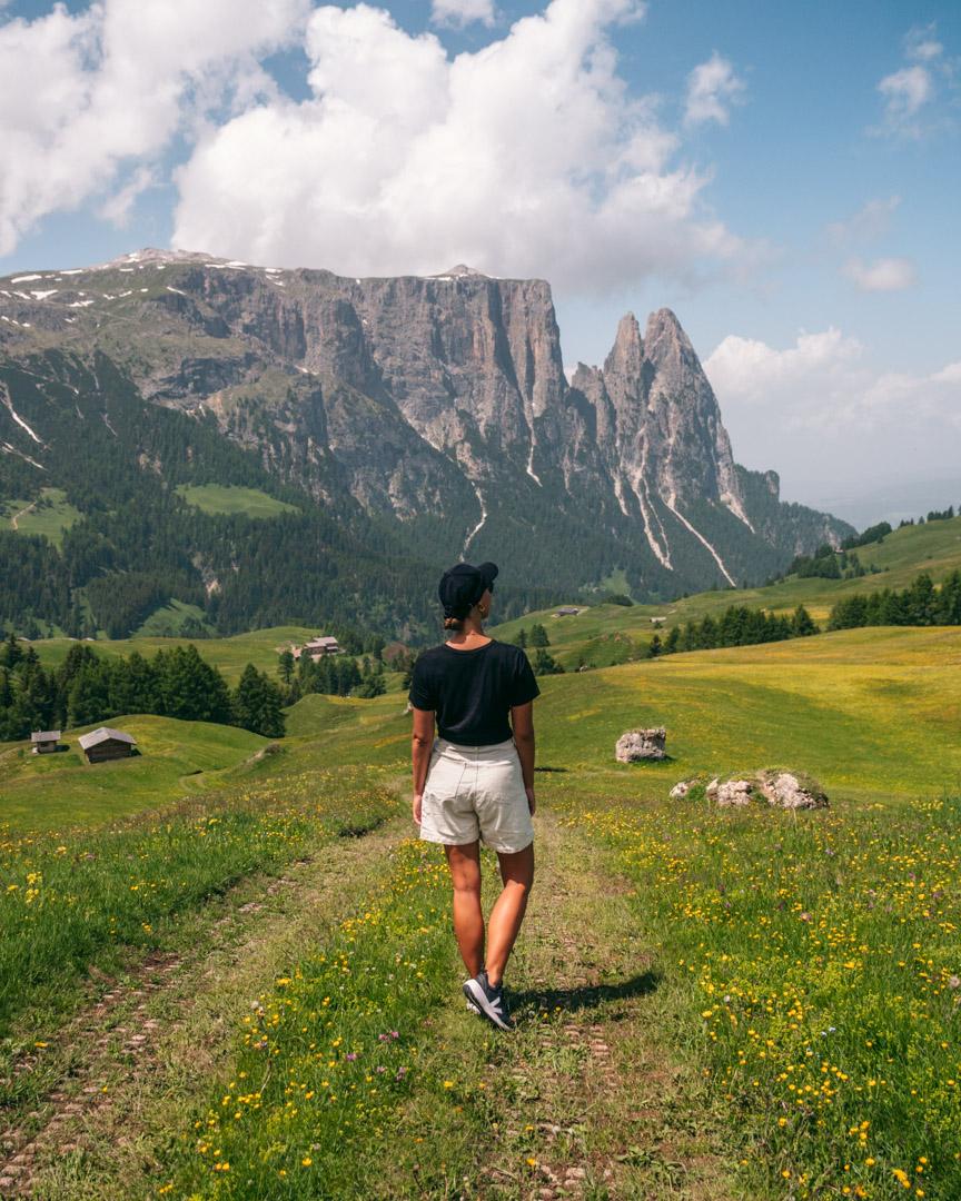 Hiking in Seiser Alm