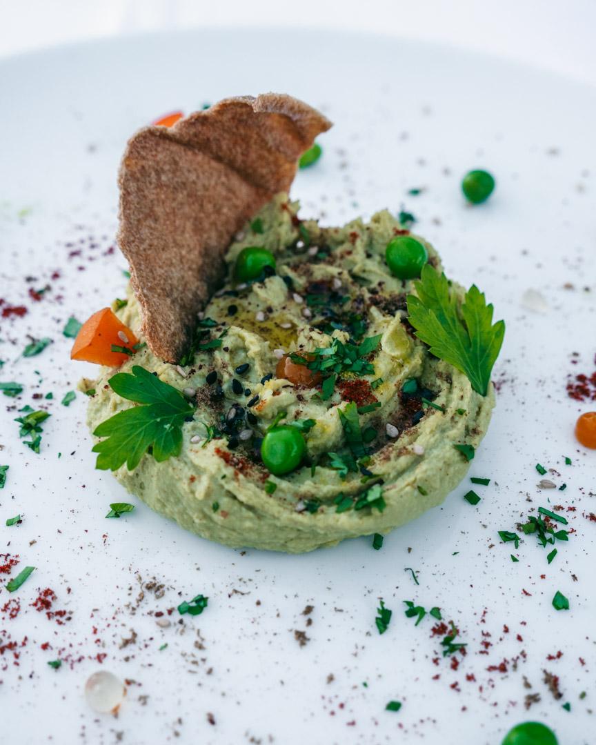 Vegan pea hummus