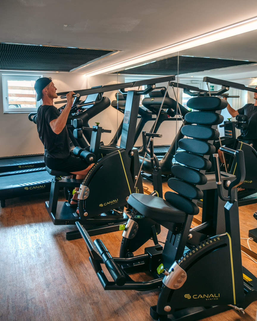 The Canali gym at Paradiso Pure.Living