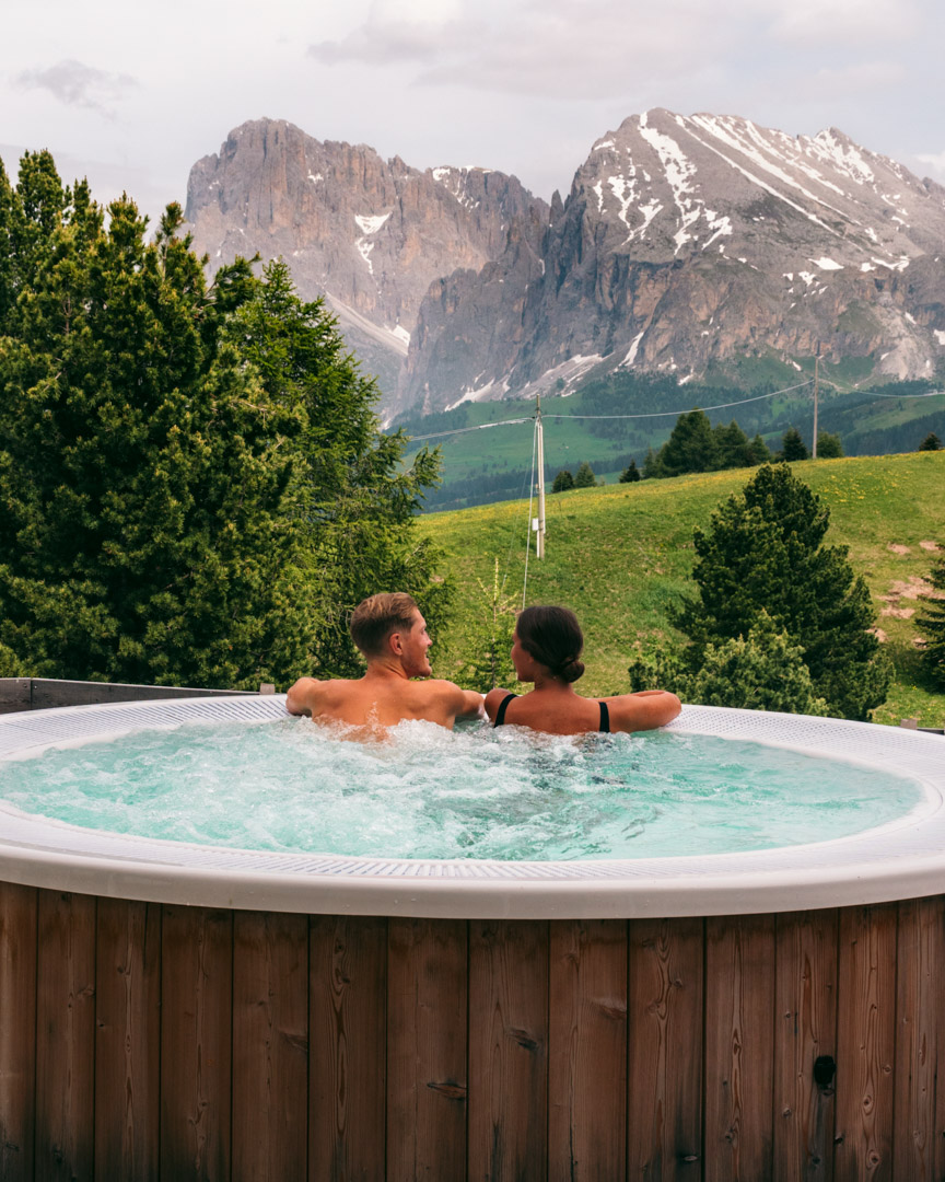 A whirlpool with a view