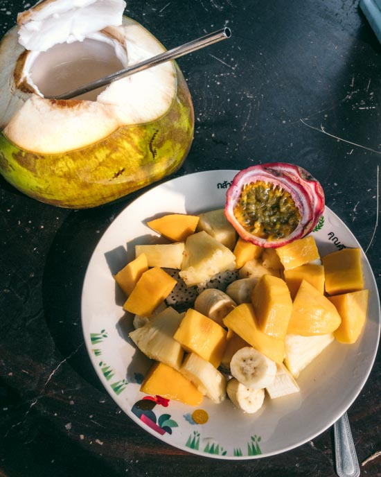 Fruit and coconut