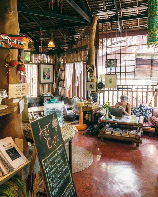 Inside Art Café