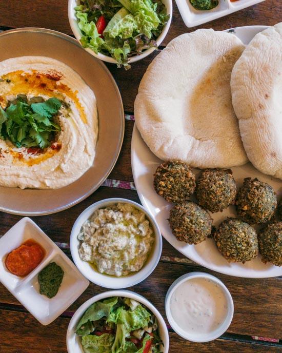 Pita and falafel