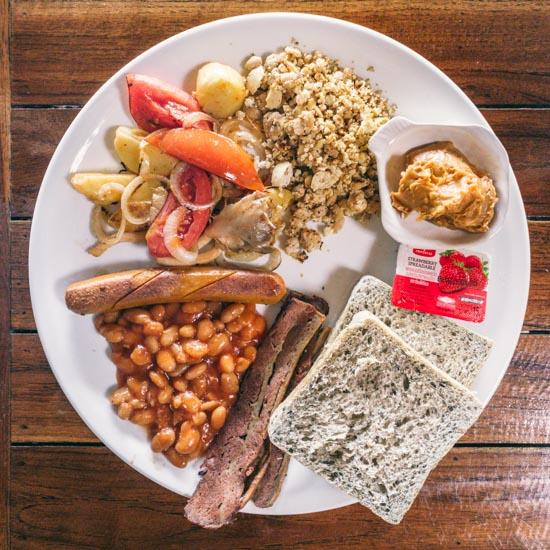 A fully vegan breakfast plate