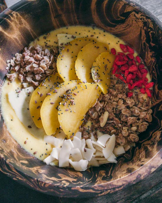 Smoothie bowl from Pure Vegan Heaven
