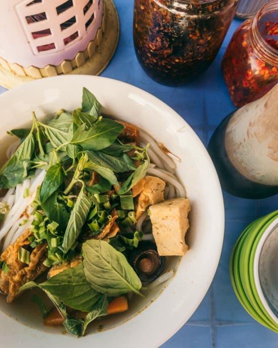 The noodle soup