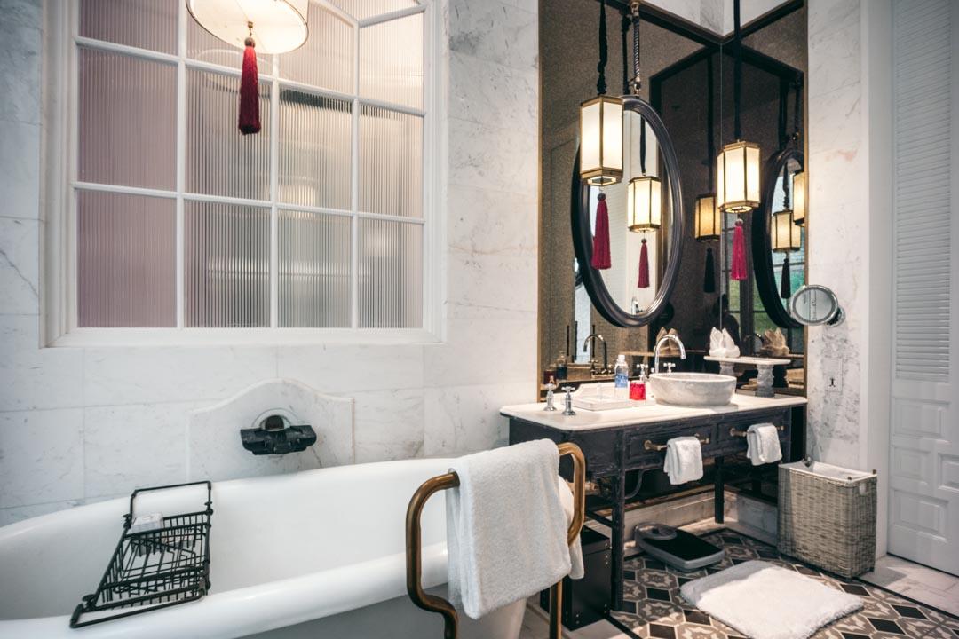 Bathroom at JW Marriott