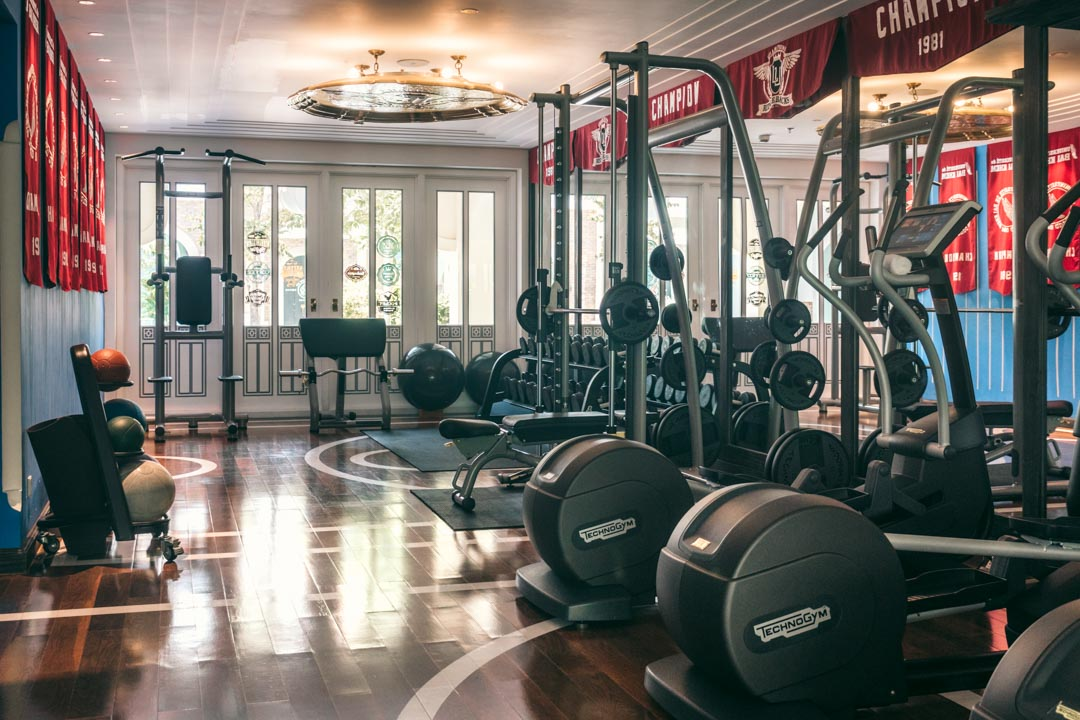 Gym at JW Marriott