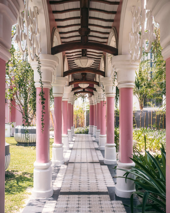 Pink way through the resort