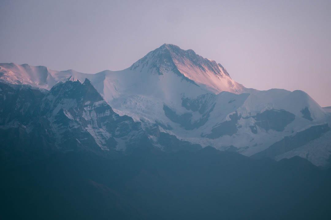Himalayan mountain peak seen from Pokhara, Nepal