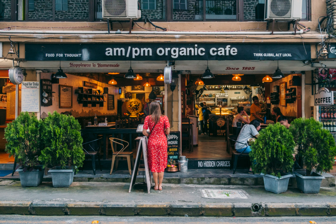 am/pm organic cafe in Pokhara