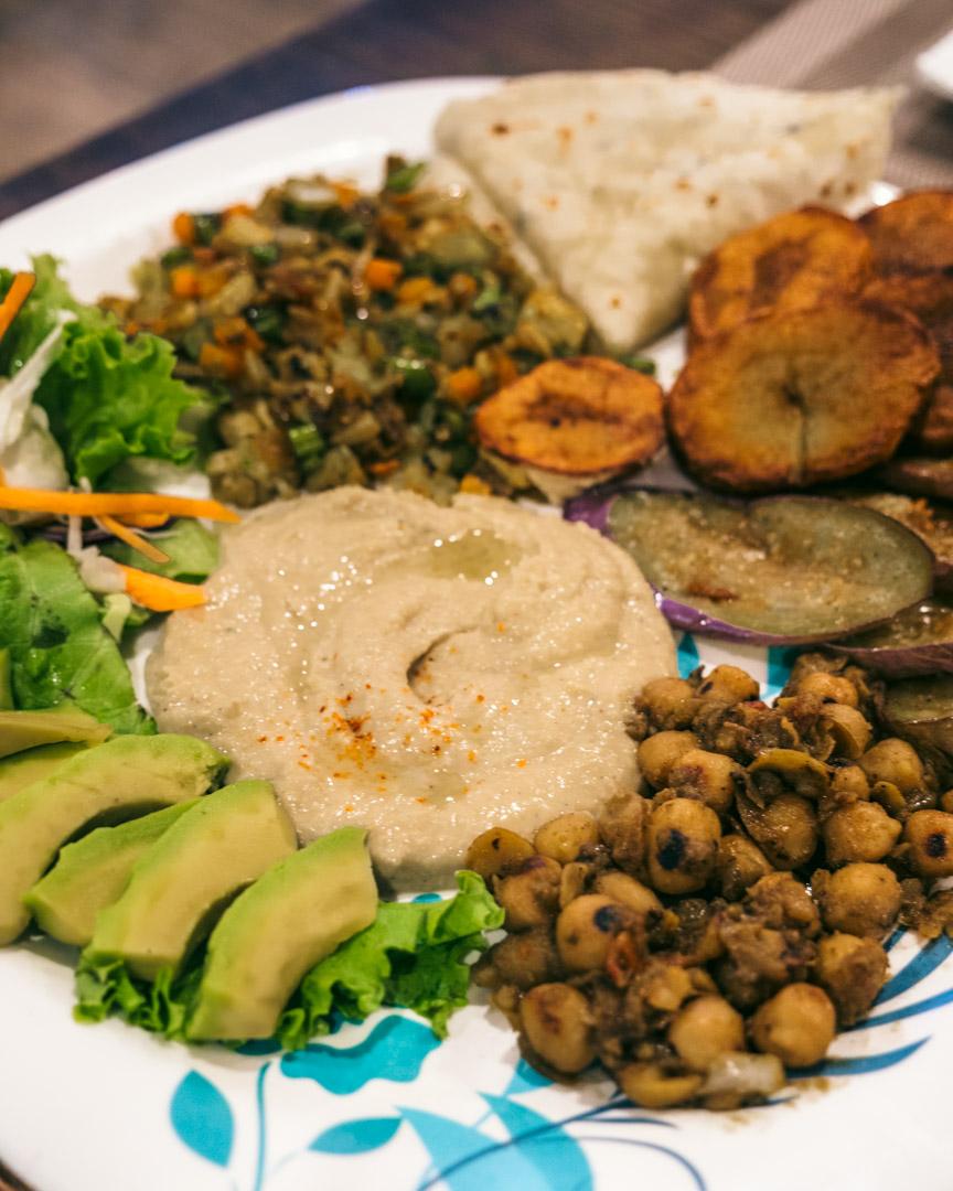 Amazing vegan platter
