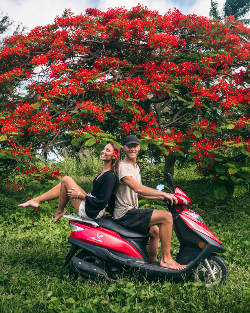 Renting a scooter in Rarotonga