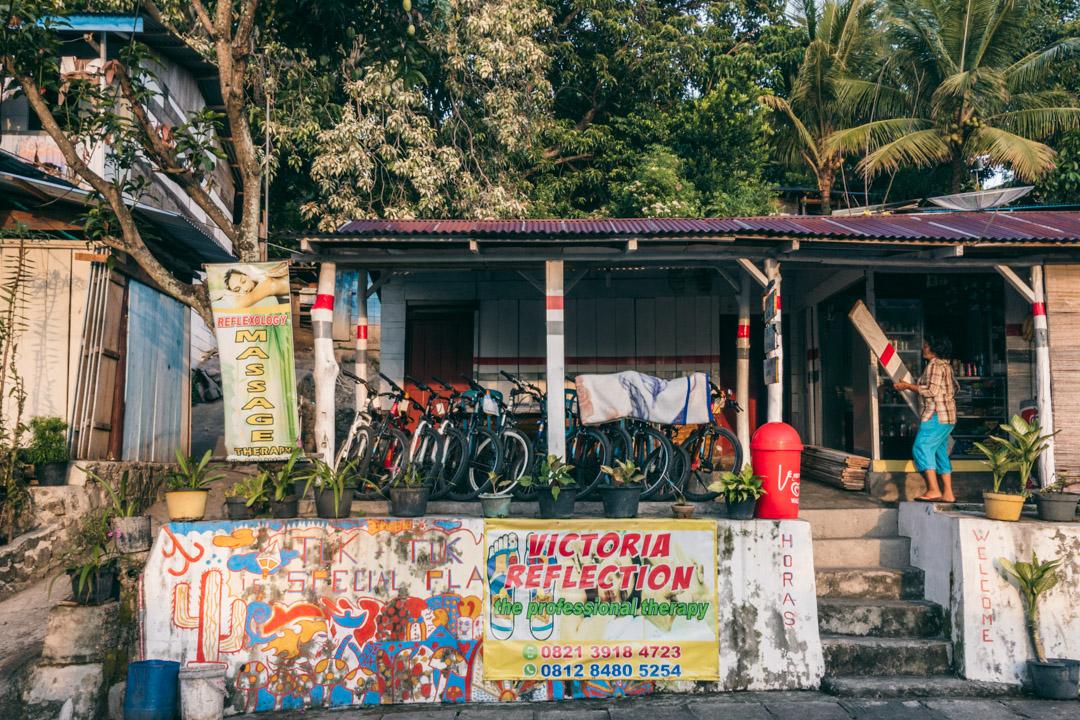 Renting a bicycle in Tuk Tuk.