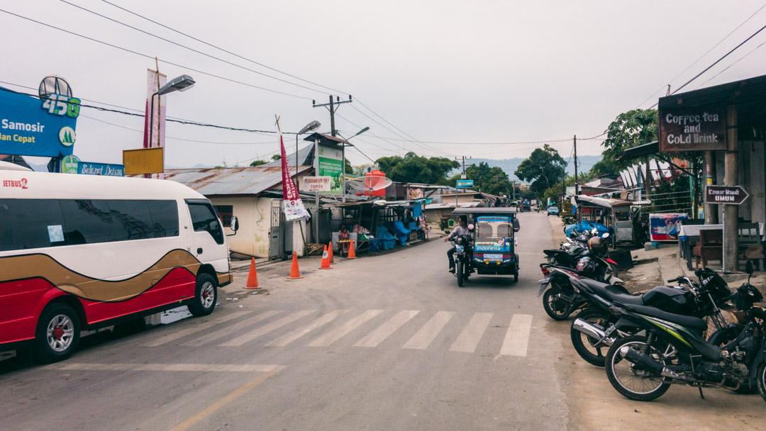 Main road near Tomok.