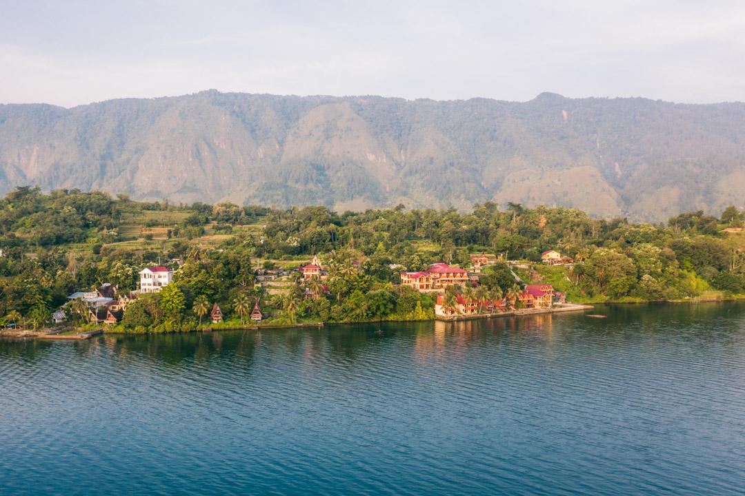 Samosir Island as seen from the water