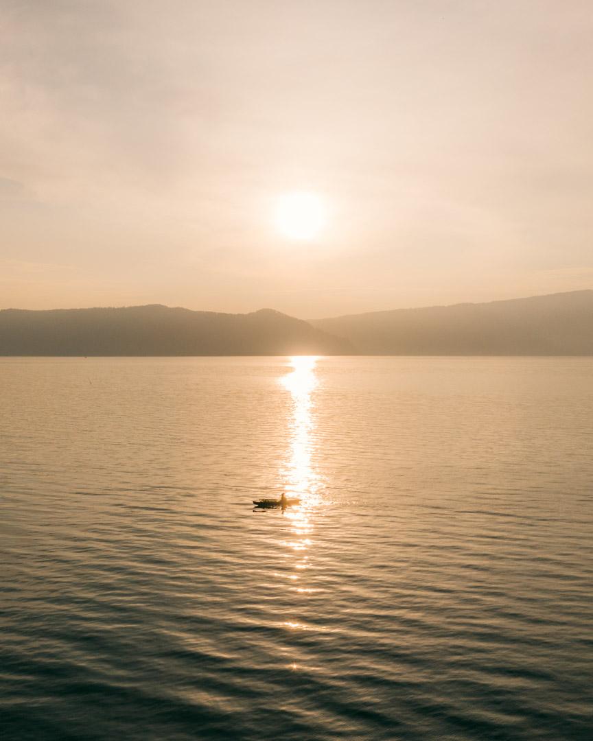 Lake Toba at sunrise