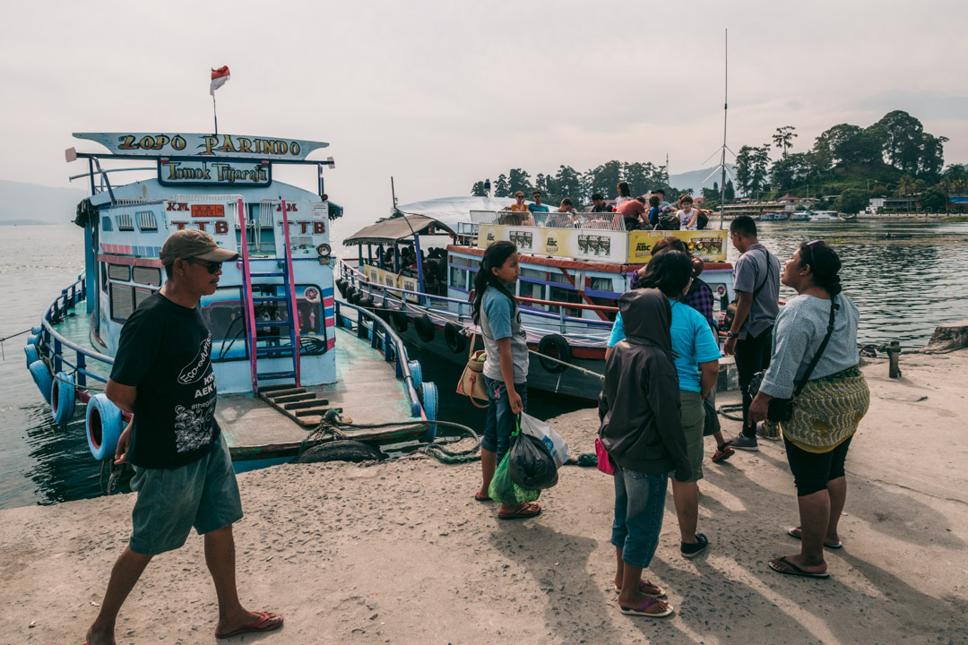Boat from Parapat to Samosir Island