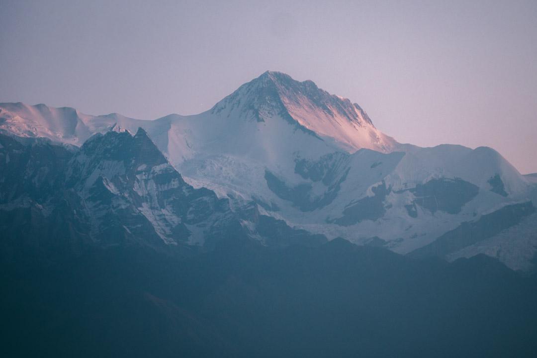 Mountain in Sarangkot at sunrise