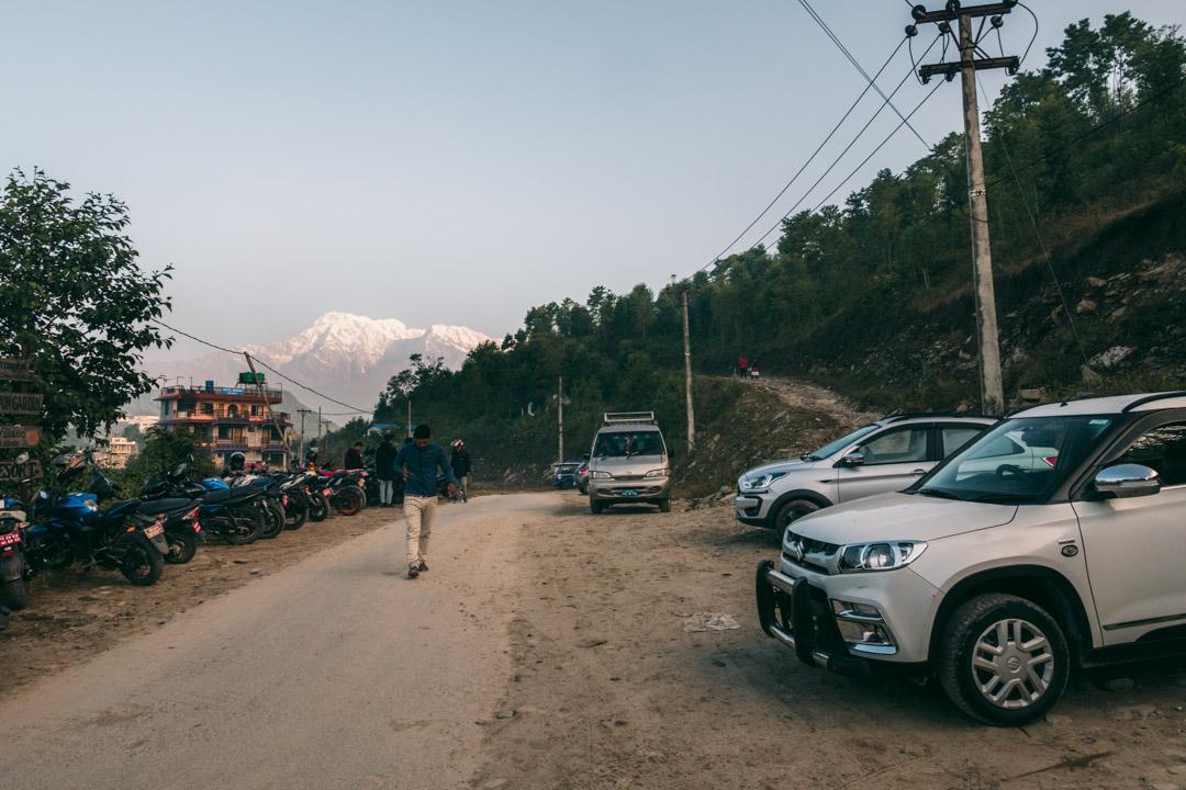 Parking lot Sarangkot Nepal
