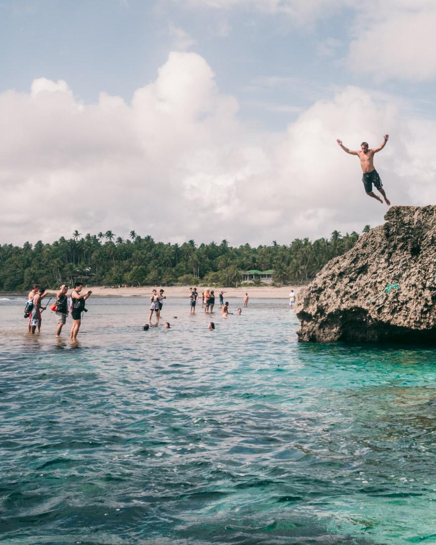 Cliff jumping Magpupungko