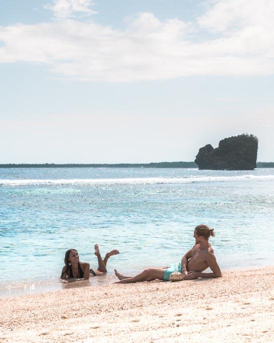 Magpupungko beach in Philippines