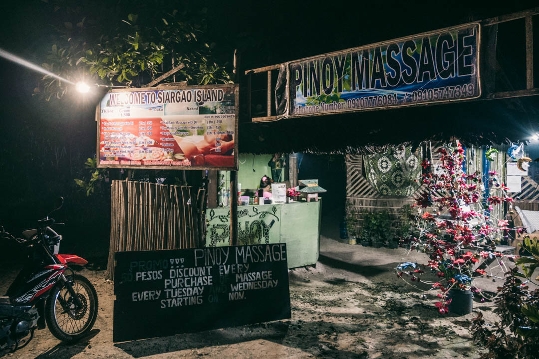 Pinoy Massage on the main road in General Luna